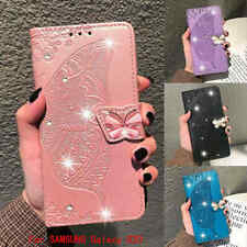 Luxury Diamond butterfly Wallet Leather Stand Case For Samsung Galaxy S20 Note10