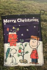 Peanuts Snoopy Charlie Brown Holiday Merry Christmas 14 x 18 inches Garden Flag
