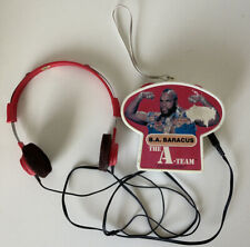 Rare 1983 The A-team Mr. T Portable Radio W/ Headphones Hong Kong Vintage