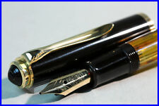 M Nib PELIKAN 400NN Fountain Pen 14K Nib / YELLOW AMBER TORTOISE & GOLD