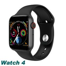 Waterproof Bluetooth W34 Smart Watch Phone Mate For iphone IOS Android Black