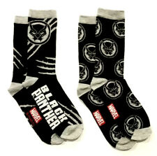 Black Panther Claw Slash Symbols Icon Marvel 2 Pack Crew Socks Fits Most Sz 6-12