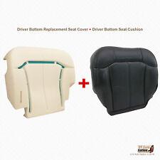 1999 2000 Chevy Silverado Driver Bottom Leather Cover Plus Foam Cushion GRAPHITE