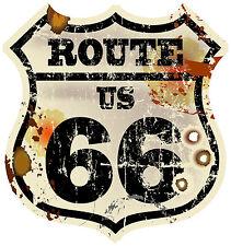 PREMIUM Autoaufkleber Route 66 USA Vintage US Sticker Aufkleber Auto Biker Retro
