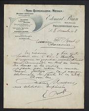"PHILIPPEVILLE (ALGERIE) QUINCAILLERIE TAILLANDERIE ""Edouard BRUN"" en 1908"