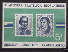 URUGUAY. 1967. River Plate Exhibition M/Sheet. MNH.