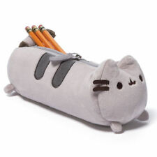 Cute Chubby Cat Kitty Soft Pencil Case Bag Office Girl Kids Stationery Plush Toy