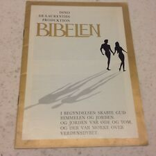 The Bible: In the Beginning Parks Vtg 1966 Large Danish Souvenir Movie Program