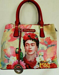 FRIDA KAHLO Flower Series Large Tote Bag Messenger Bag Authentic and Licensed
