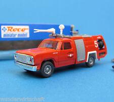 Roco h0 1322 pompier DODGE w300ff Cheetah aéroport pompiers HO 1:87 OVP