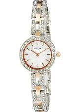 Bulova Women's Swarvoski Crystal Bezel Quartz Two-Tone 23mm Watch 98L212