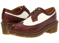Doc Martens Shannon winter white and tan brogue shoe size UK9 US11 ladies US 10M