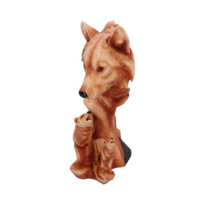 Natural Song 31cm Wolf Figurine