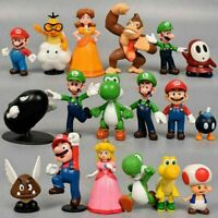 18pcs/Set Super Mario Bros Action Figures Kids Toy Cake Topper Figurines Decor