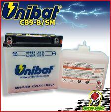 BATTERIA UNIBAT CB9-B CON ACIDO CAGIVA Roadster 50 1994 1995 1996 1997