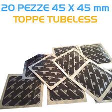 20 Pezze riparazione pneumatici tubeless 45x45 mm Spessore 3mm - Toppe Tubeless