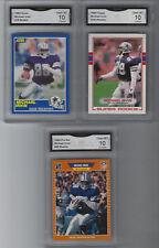 1989 MICHAEL IRVIN 3 ROOKIE CARD LOT SCORE, TOPPS, PRO SET GEM MINT 10 COWBOYS