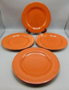 "Pier 1 Toscana Terracotta 11"" Dinner Plate Lot of 4"