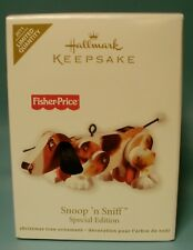 2011 HALLMARK CHRISTMAS ORNAMENT Fisher Price SNOOP 'N SNIFF Pull Toy Dog Puppy