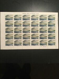 Ghana 1967 Sg 467;As Issued Complete Sheet Of Stamps. Bridge Plate 1B