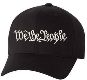 We The People Hat Flex Fit 6277 Embroidered Low Profile Hat WITH BACK DESIGN