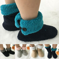 Women Coral Fleece Indoor Floor Boots Warm Furry Soft Flat Shoes Winter Slippers