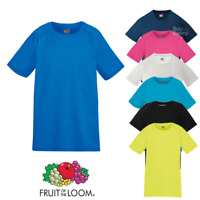 Fruit Of The Loom CHILDREN'S PERFORMANCE T-SHIRT WICKING SPORT FOOTBALL PE SIZES