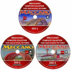 Meccano Magazine Full Collection Every 650 Issues 1916-1981 PDF 3 DVD + Manuals