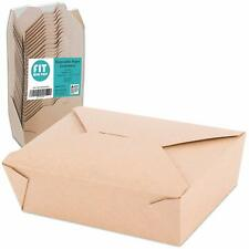 """[40 Pack] 45 oz 6 x 5.75 x 2.5"""" Disposable Paper Take Out Food Containers,"""