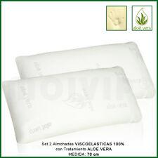 Almohada Viscoelástica es Viscoelastica 100%SET 2 UNIDADES de Almohadas de 70cm