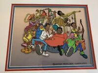 Filmation Production Animation Cel Of Fat Albert And The Cosby Kids, All 8!!!