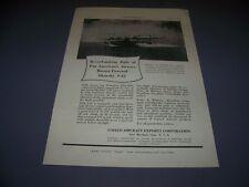 Vintage.(1Pc) 1935 Sikorshy S-42 Amphibian.Original Sales Ads (510K)