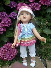 HAND Knitted Vestiti per bambole American Girl/designafriend e bambole simili