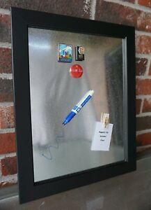 Memo Board Farmhouse Galvanized w/ Black Frame & FREE Art Magnet. GREAT GIFT!