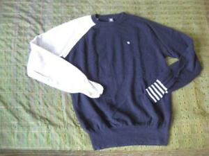 Lambswool and cashmere jumper sweater pullover Black and grey  Chest 42 cms