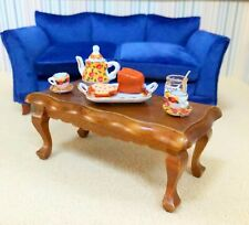 Dollhouse Miniature Wooden Walnut  Coffee Table  (ONLY)