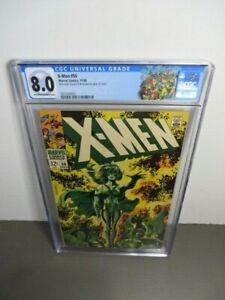 X-Men #50 CGC 8.0 - 2nd Appearance of Polaris! New X-Men Logo!