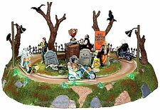 Lemax 04173 MONSTER MOTORCYCLE RALLY Spooky Town Table Accent Animated Decor I