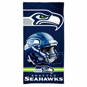 "SEATTLE SEAHAWKS SPECTRA BEACH TOWEL 30""X60"" COTTON PLUSH NFL LICENSED"