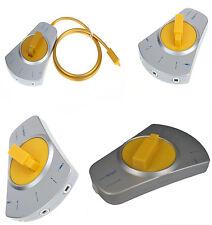3 EN 1 Adaptador Conmutador óptico de 3 vías Splitter Audio Selector de plata