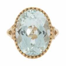 Dress Ring Gold And Aquamarine