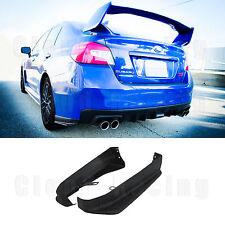 2015-2018 Aero Rear Bumper Aprons (ABS) Spats Caps For Subaru WRX / STI