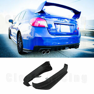 For 15-20 Subaru WRX STI Aero Rear Bumper Aprons (ABS) ST-Style Spats Cap Add On