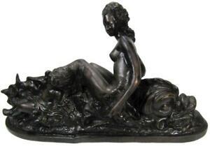 Roman Sea Goddess Salacia Neptunes Wife Delphinus Dolphin Bronze 10kg 31 x 55 cm