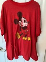 DISNEY PARKS RED MICKEY MOUSE T SHIRT SHORT SLEEVE MENS 2XL