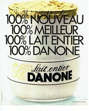 PUBLICITE ADVERTISING 126  1978   le yoghourt Danone au lait entier