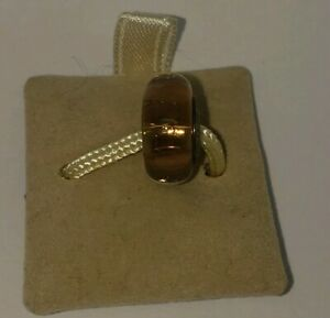NEW CHAMILIA STERLING SILVER MURANO GLASS 24 K GOLD TWILIGHT COLLECTION CHARM