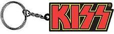 KISS 1970s American Heavy Metal Rock Band Rubber KEY CHAIN with Metal RING New