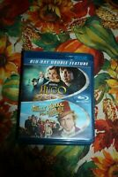 DOUBLE FEATURE - HUGO & WILLY WONKA AND THE CHOCOLATE FACTORY - BLU-RAY