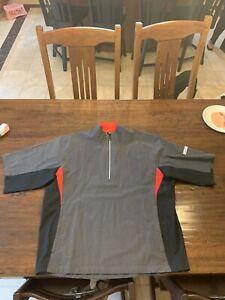 footjoy hydrolite Quarter Zip rain Jacket. Short Sleeve. Size L